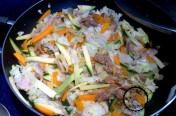 Choux chinois au porc