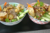 Bo Bun au boeuf, carotte, concombre