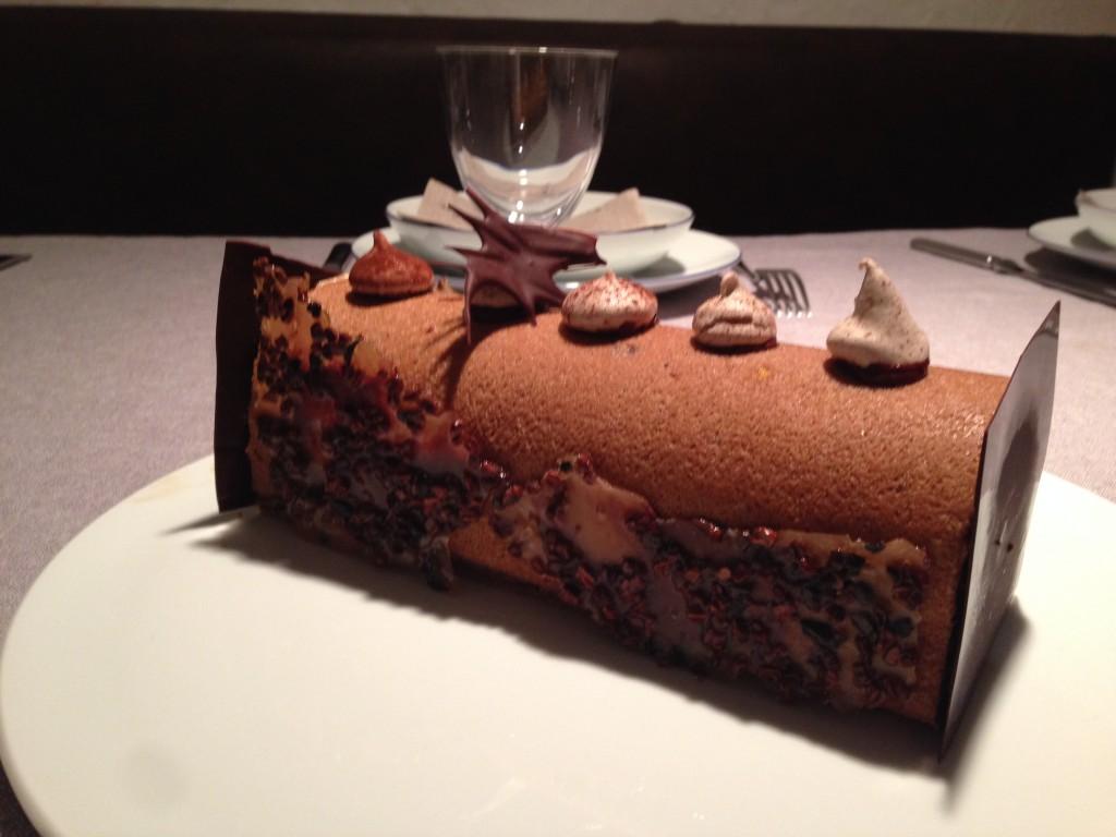 Buche  croquant chocolat