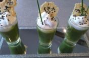 Crème courgette chantilly roquefort