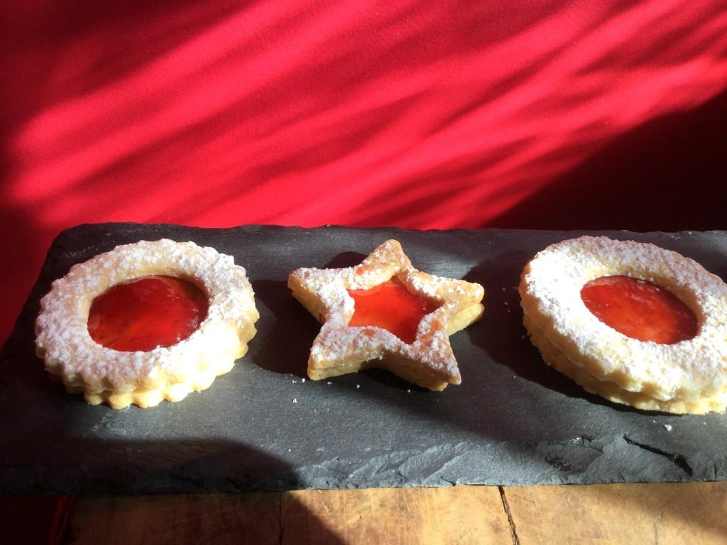 Etoile de Noel Confiture fraise
